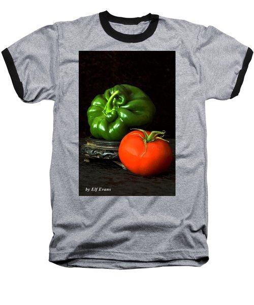 Pepper And Tomato Baseball T-Shirt