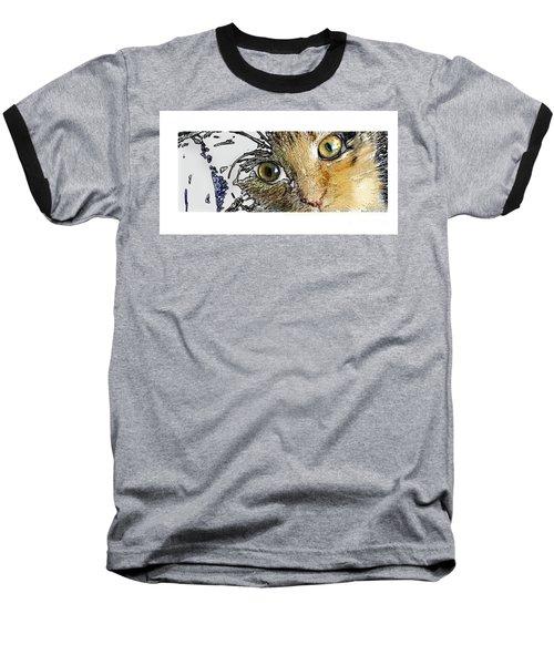 Pepper Eyes Baseball T-Shirt by Deborah Nakano