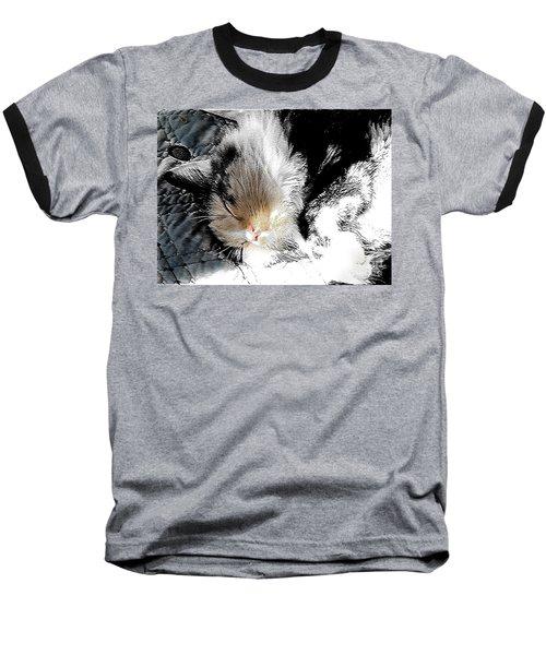 Pepper Sunface Baseball T-Shirt by Deborah Nakano
