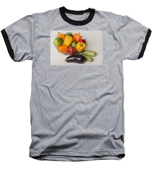 Baseball T-Shirt featuring the photograph Pepper To Squash by Laura Pratt