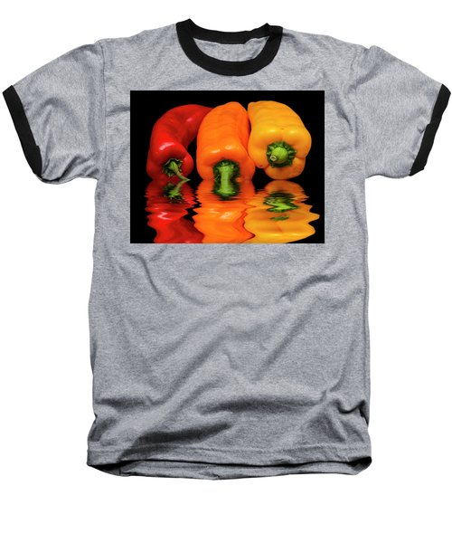 Baseball T-Shirt featuring the photograph Peppers Red Yellow Orange by David French
