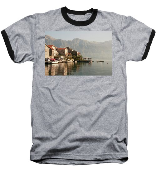 Baseball T-Shirt featuring the photograph Perast Restaurant by Phyllis Peterson