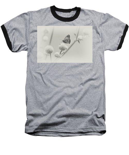 Perched Butterfly No. 255-2 Baseball T-Shirt