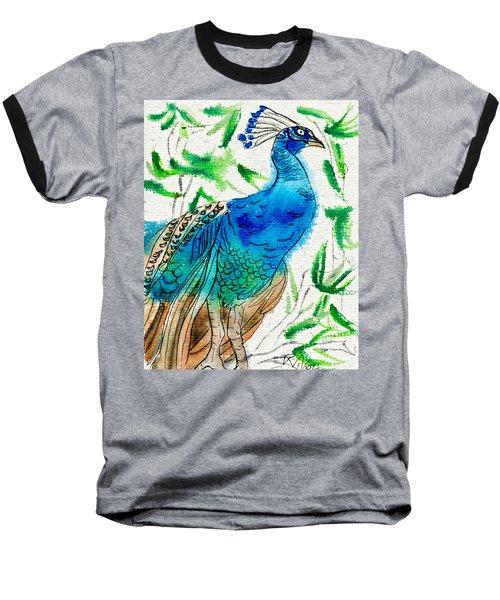 Perched Peacock I Baseball T-Shirt