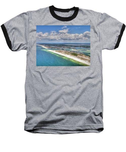 Perdido Pass Aerial 3029 Baseball T-Shirt