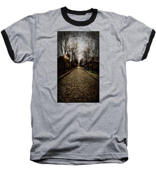 Pere Lachaise Cemetery Road 2 Baseball T-Shirt