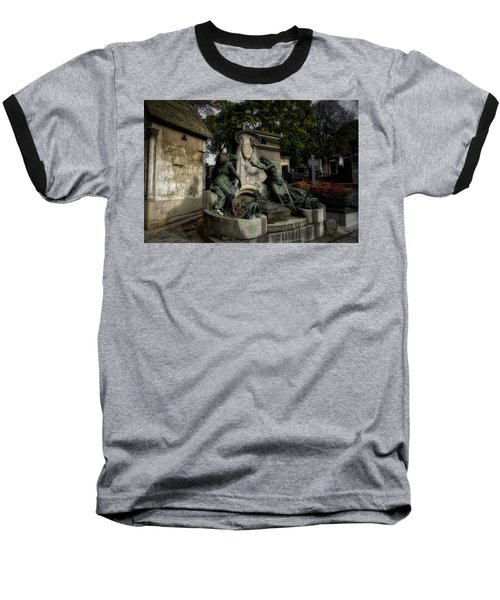 Pere Lachaise Tomb Baseball T-Shirt