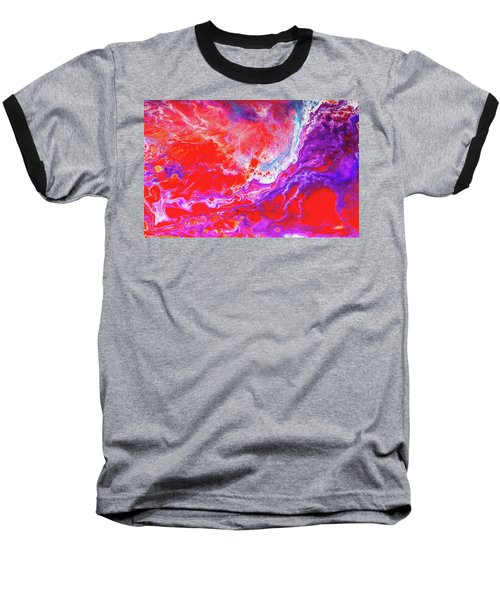 Perfect Love Storm - Colorful Abstract Painting Baseball T-Shirt by Modern Art Prints