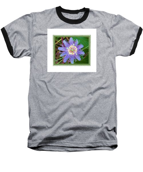 Baseball T-Shirt featuring the photograph Perfect Passion Flower 2 by Shirley Moravec