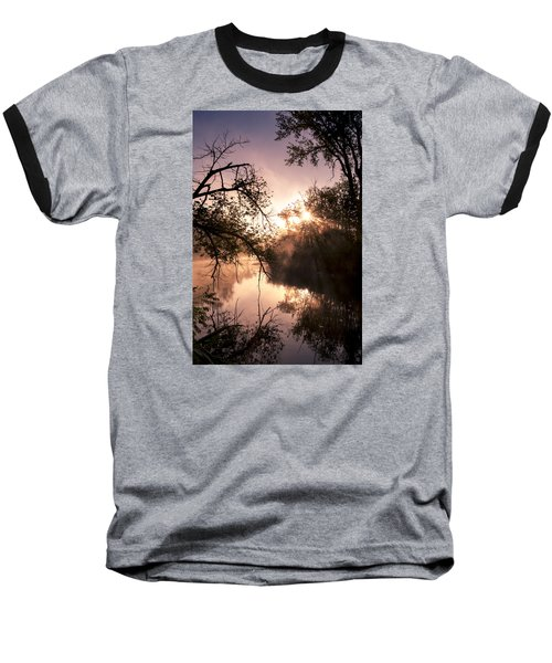Perfect Reflections Baseball T-Shirt by Annette Berglund