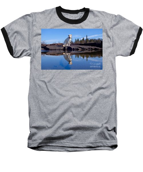 Perfect Reflections Baseball T-Shirt by Sandra Updyke