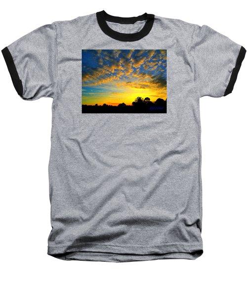 Baseball T-Shirt featuring the digital art Perfect Sunset by Mark Blauhoefer