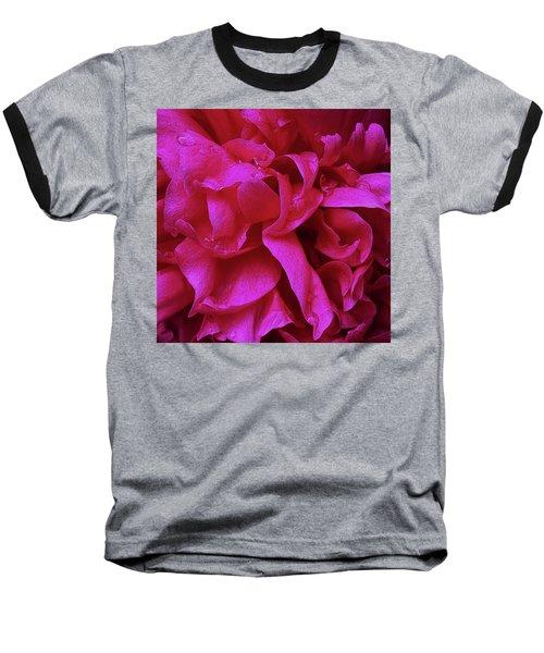 Perfectly Pink Peony Petals Baseball T-Shirt