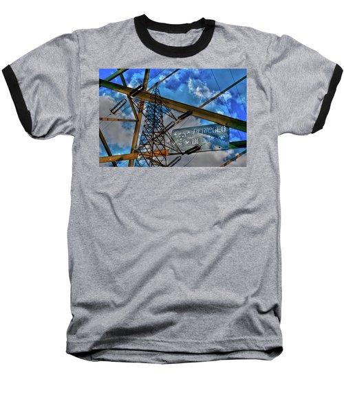 Pericolo Di Morte Baseball T-Shirt by Sonny Marcyan