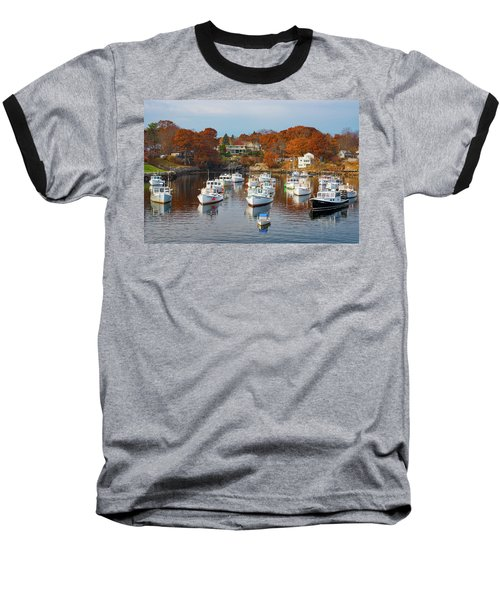 Baseball T-Shirt featuring the photograph Perkins Cove by Darren White