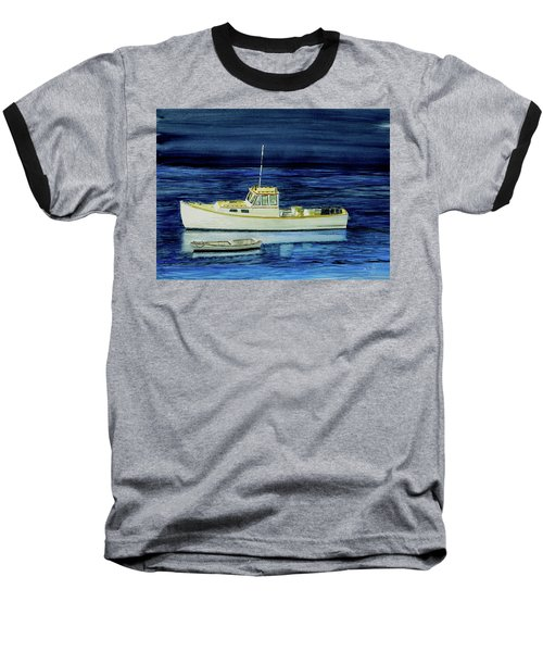 Perkins Cove Lobster Boat And Skiff Baseball T-Shirt