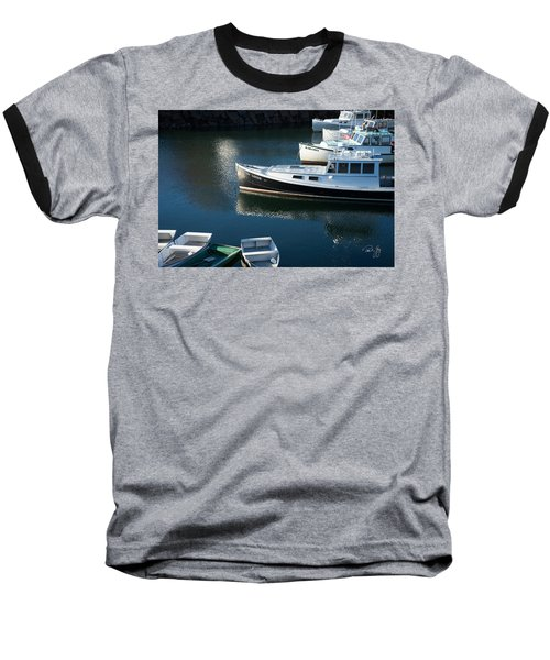 Perkins Cove Lobster Boats One Baseball T-Shirt