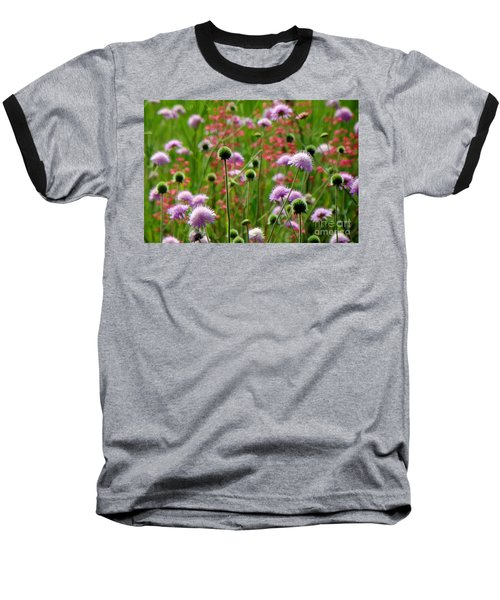 Perky Chives Baseball T-Shirt by Betsy Zimmerli