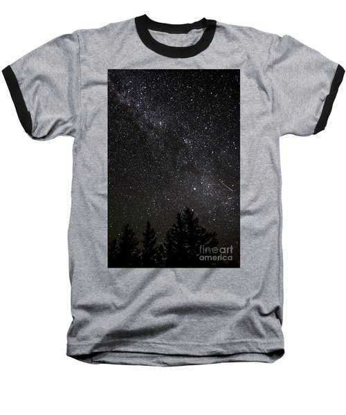Perseid Meteor And Milky Way Baseball T-Shirt