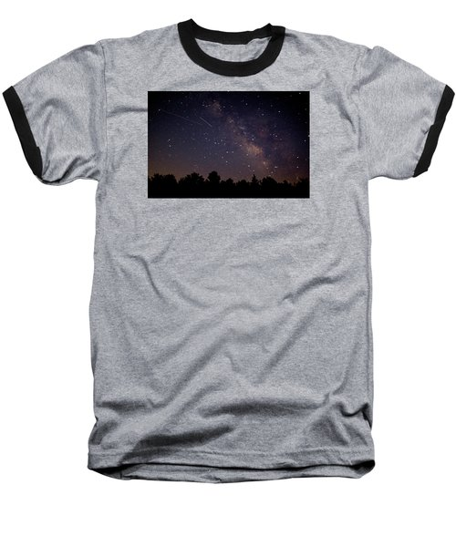 Baseball T-Shirt featuring the photograph Perseid Meteor Shower by Jean Haynes
