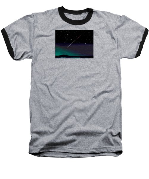 Perseid Meteor Shower  Baseball T-Shirt by Jean Pacheco Ravinski