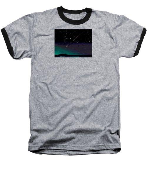 Baseball T-Shirt featuring the digital art Perseid Meteor Shower  by Jean Pacheco Ravinski