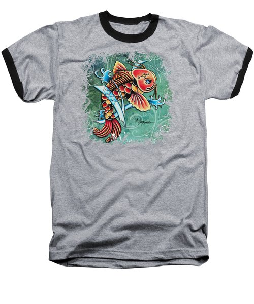 Perseverance Baseball T-Shirt by Maria Arango