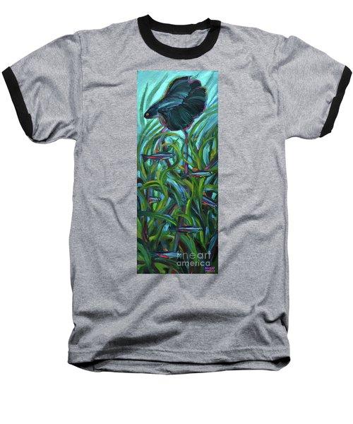 Persistent Fish Betta  Baseball T-Shirt by Robert Phelps