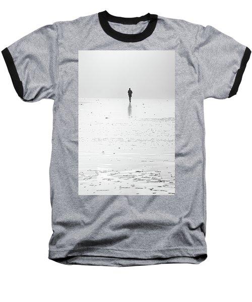 Person Running On Beach Baseball T-Shirt