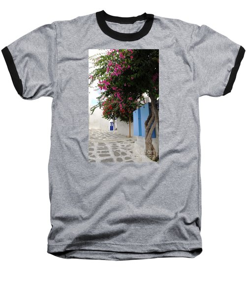 Baseball T-Shirt featuring the photograph Perspective Blue Door by Haleh Mahbod