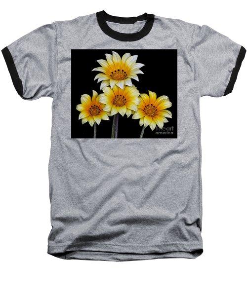 Peruvian Daisies Baseball T-Shirt by Shirley Mangini
