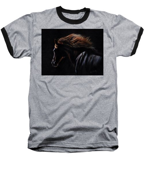 Baseball T-Shirt featuring the painting Peruvian Paso Horse by David Stribbling