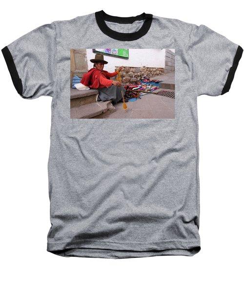 Peruvian Weaver Baseball T-Shirt by Aidan Moran