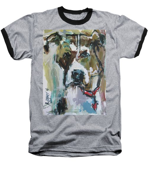Baseball T-Shirt featuring the painting Pet Commission Painting by Robert Joyner