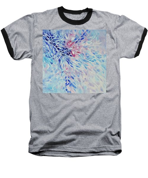 Baseball T-Shirt featuring the painting Petals And Ice by Joanne Smoley