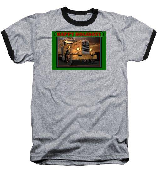 Pete Ol' Yeller Happy Holidays Baseball T-Shirt by Stuart Swartz