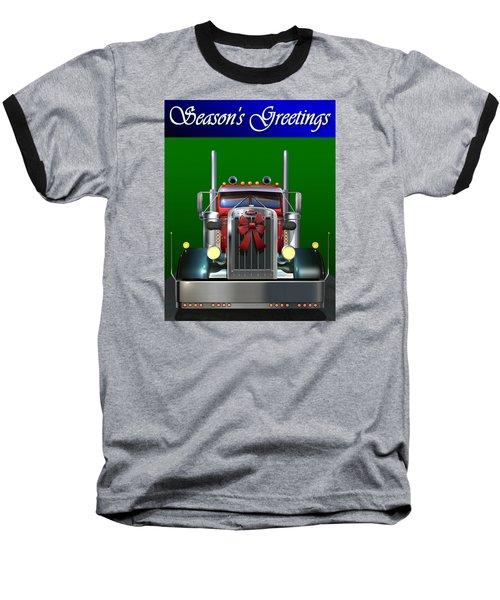 Pete Season's Greetings Baseball T-Shirt by Stuart Swartz
