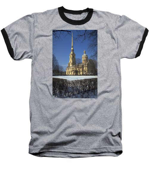 Peter And Paul Cathedral Baseball T-Shirt by Travel Pics