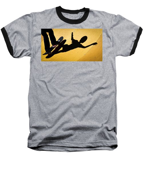Peter Pan Skate Boarding Baseball T-Shirt