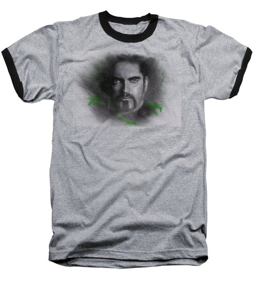 Baseball T-Shirt featuring the drawing Peter Steele, Type O Negative by Julia Art