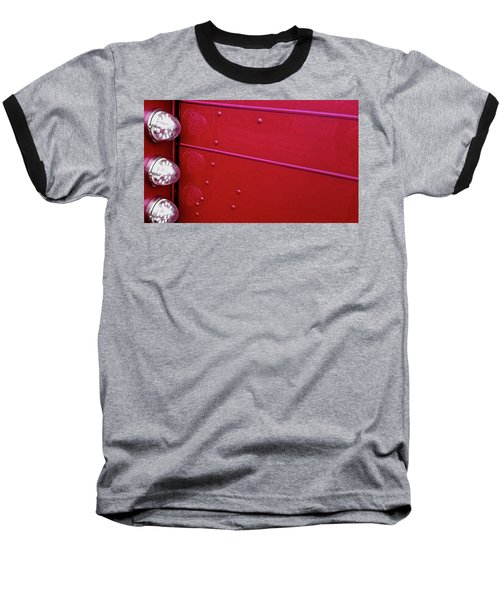 Peterbuilt Hood And Lamps Baseball T-Shirt