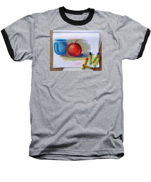 Baseball T-Shirt featuring the drawing Petit Exercice En Pastel L'huile by Ginny Schmidt