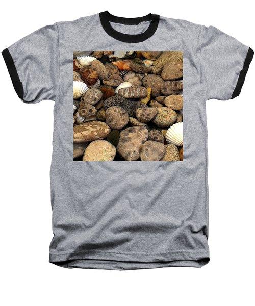 Petoskey Stones With Shells L Baseball T-Shirt
