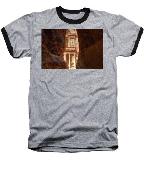 Petra Treasury Revealed Baseball T-Shirt by Nigel Fletcher-Jones