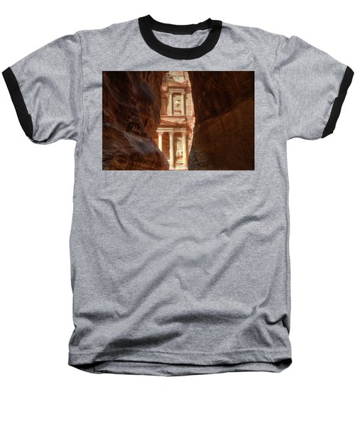 Petra Treasury Revealed Baseball T-Shirt