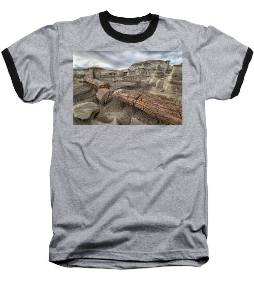 Baseball T-Shirt featuring the photograph Petrified Remains by Alan Toepfer