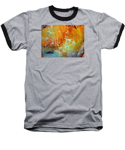 Petroglyph Panel Work 12 Baseball T-Shirt