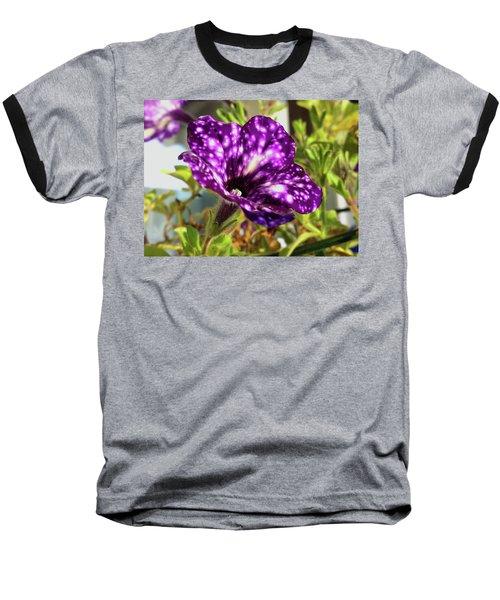 petunia nightsky,Helloween colors  Baseball T-Shirt by Tamara Sushko