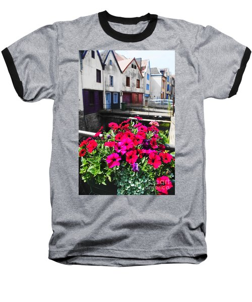 Petunias Of Amiens Baseball T-Shirt by Therese Alcorn