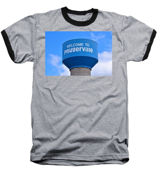 Pflugerville Texas - Water Tower Baseball T-Shirt